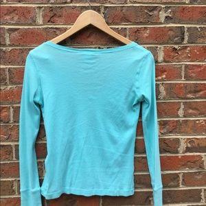 Lacoste Tops - Lacoste women's long sleeve v-neck tee, medium